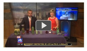 Click the image above for the Fox 4 Morning Show segment on refreshing water recipes.